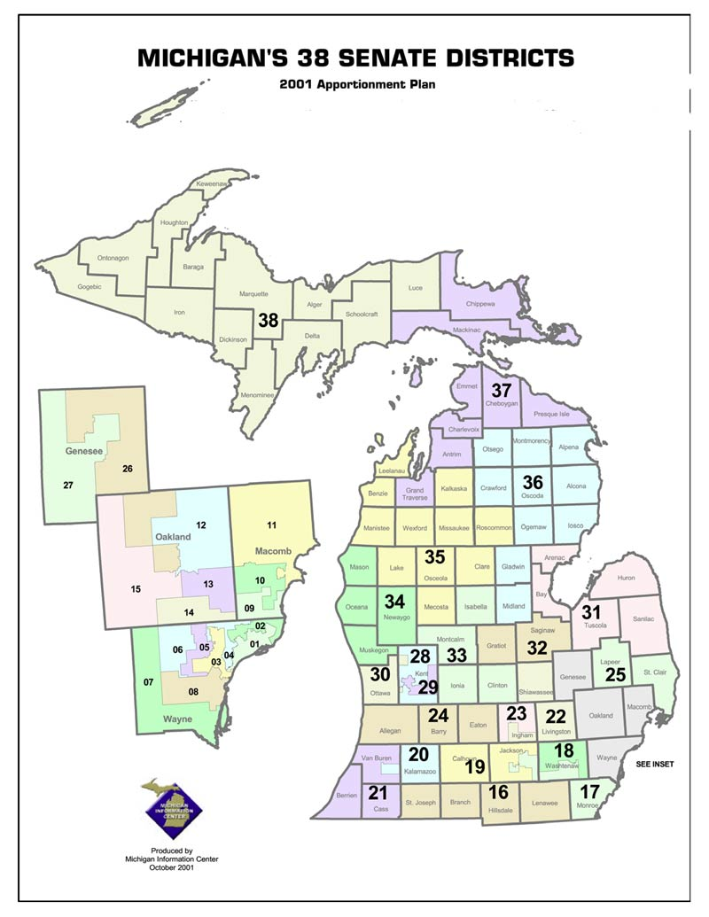Michigan state government representatives and senators by county publicscrutiny Image collections